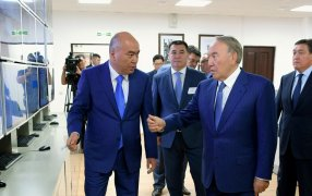 Visit of the President of the Republic of Kazakhstan N.Nazarbayev to the EMG office